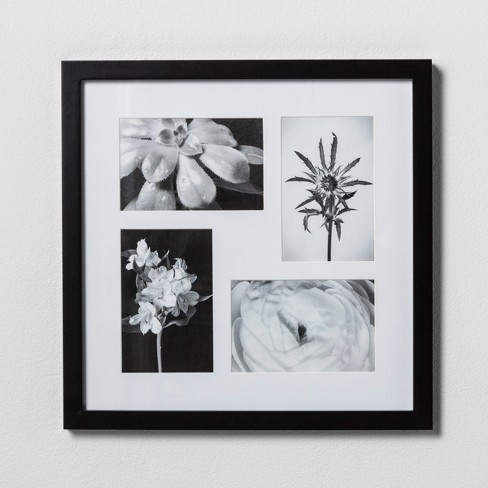"Thin Collage Frame Holds 4 Photos Black 4""x6"" Photos - Made By Design™ - image 1 of 2"