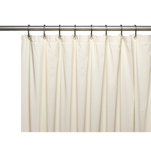 Carnation Home Fashions Mildew Resistant 10 Gauge Vinyl Extra Long Shower Curtain Liner 72 Wide X 84 Long With Metal Grommets And Reinforced Header Target
