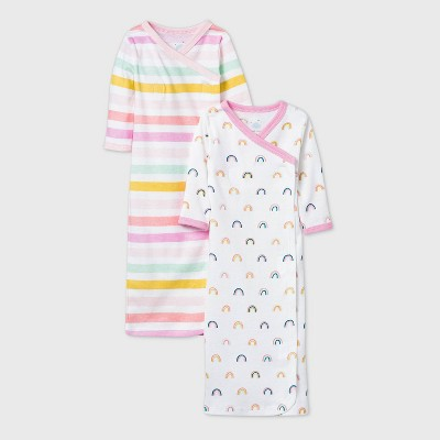 Baby Girls' Unicorn Adventure Nightgown - Cloud Island™ Pink Preemie