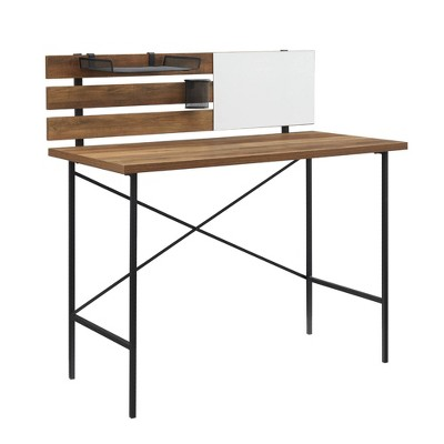Modern Slat Back Adjustable Storage Writing Desk - Saracina Home
