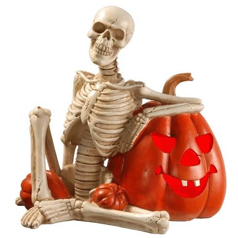 "9"" LED Skull and Pumpkin Novelty Halloween Lights - image 1 of 1"