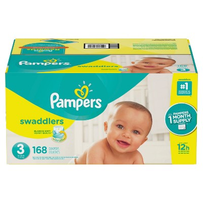Pampers Swaddlers Disposable Diapers One Month Supply - Size 3 (168ct)