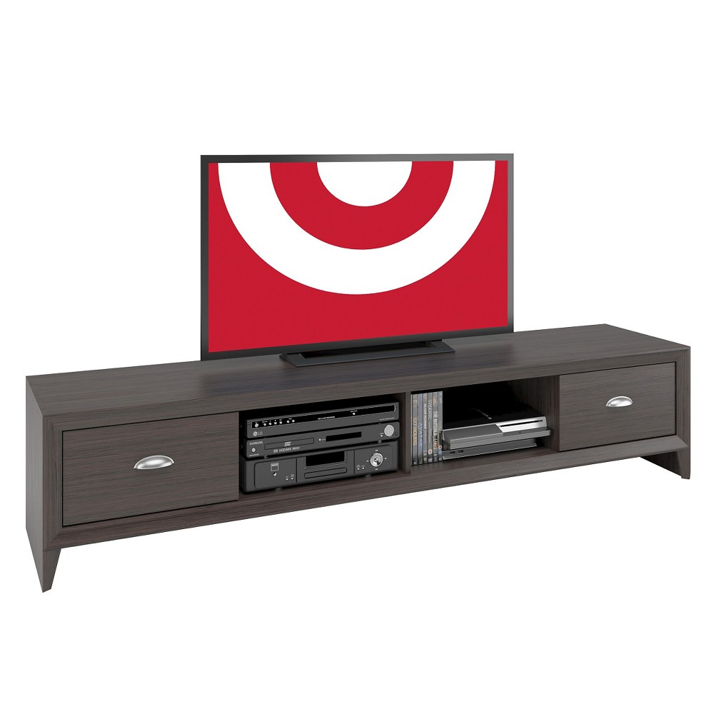 Lakewood Extra Wide TV Bench Modern Wenge 80 - CorLiving