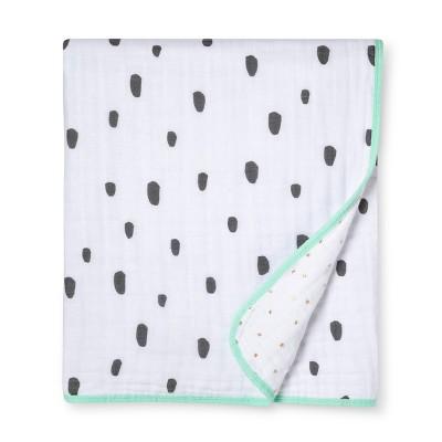 Muslin Baby Blanket Dash Marks - Cloud Island™ White