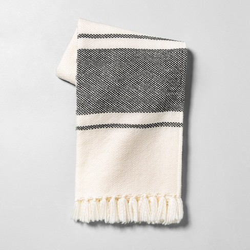 Throw Blanket Sour Cream / Gray Stripe - Hearth & Hand™ with Magnolia - image 1 of 3
