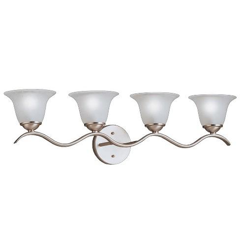 Kichler 6324 Dover 30 5 Wide 4 Bulb Bathroom Lighting Fixture Brushed Nickel