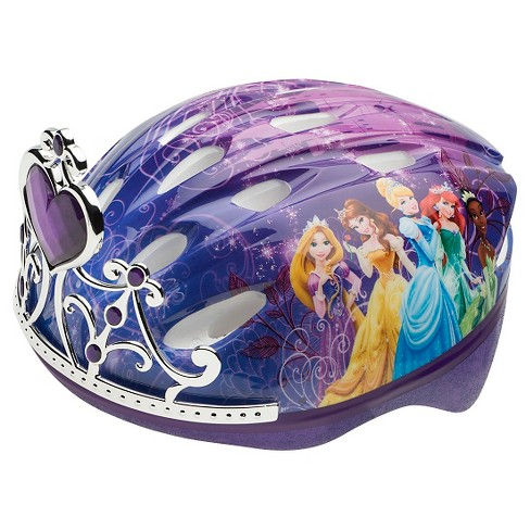 Bell Sports Disney Princess Child Bike Helmet with Tiara - Purple - image 1 of 1
