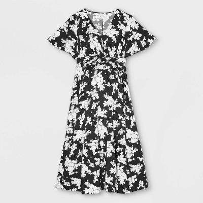 Flutter Short Sleeve Woven Maternity Dress - Isabel Maternity by Ingrid & Isabel™