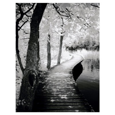 24 x36  Take A Walk By Ilona Wellman Art On Canvas Black - Fine Art Canvas