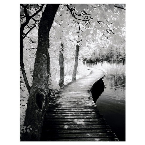 "24""x36"" Take A Walk By Ilona Wellman Art On Canvas Black - Fine Art Canvas - image 1 of 4"