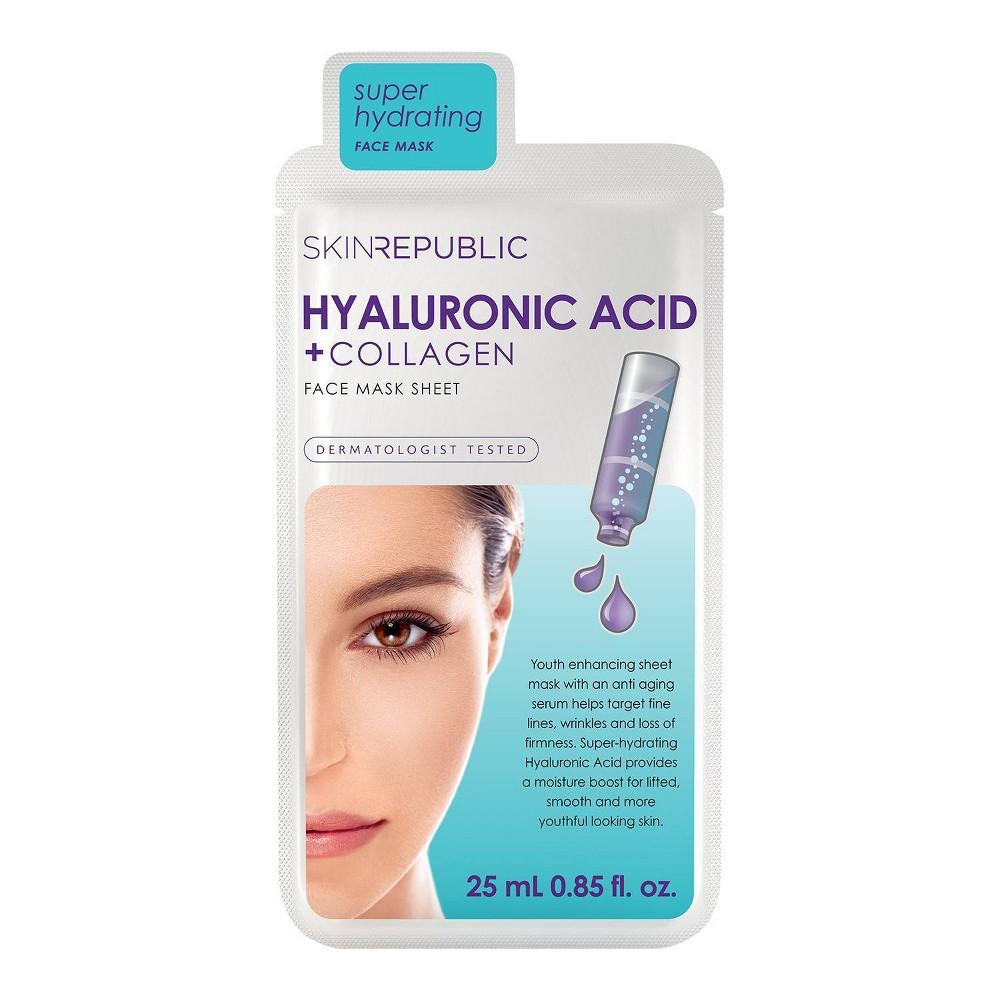 Image of Skin Republic Hyaluronic Acid and Collagen Face Mask Sheet - 0.85 fl oz
