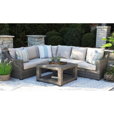 Alder Grey 5pc Sectional with Sunbrella - Canopy Home and Garden