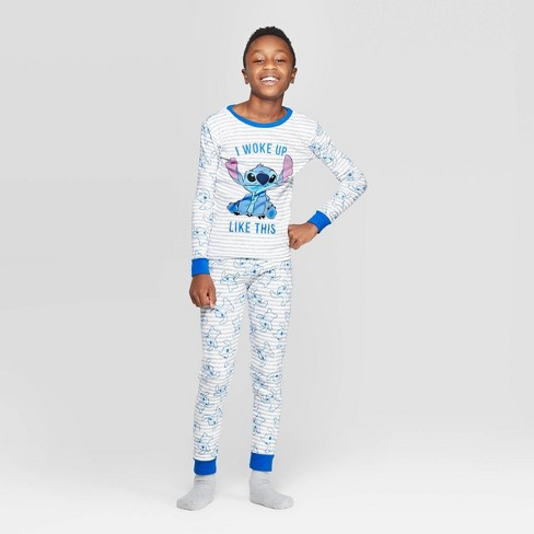 Boys' Lilo & Stitch 2pc Pajama Set - Gray - image 1 of 3