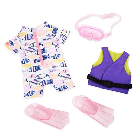 """Our Generation Underwater Wonder Swim Fin Outfit for 18"""" Dolls - image 1 of 3"""