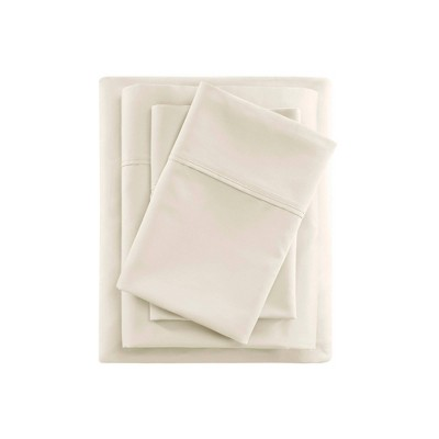 Queen 600 Thread Count Cooling Cotton Sheet Set Ivory