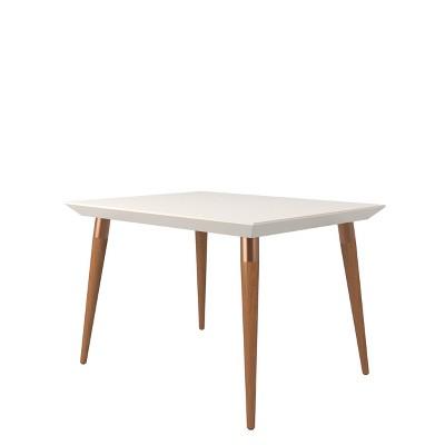 "47.24"" Utopia Modern Beveled Rectangular Dining Table with Glass Top - Manhattan Comfort"