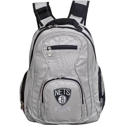 NBA Brooklyn Nets Gray Laptop Backpack