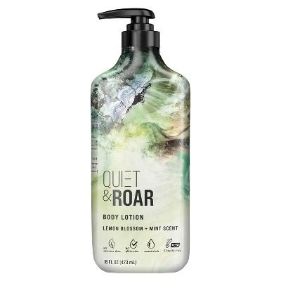 Quiet & Roar Lemon Blossom & Mint Body Lotion made with Essential Oils - 16 fl oz