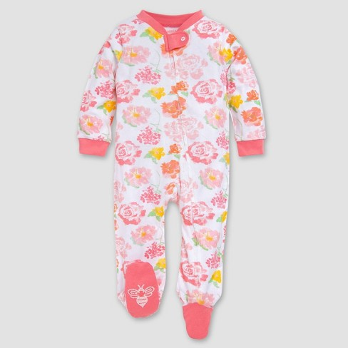 Burt's Bees Baby® Baby Girls' Rosy Spring Organic Cotton Sleep N' Play - Pink - image 1 of 2