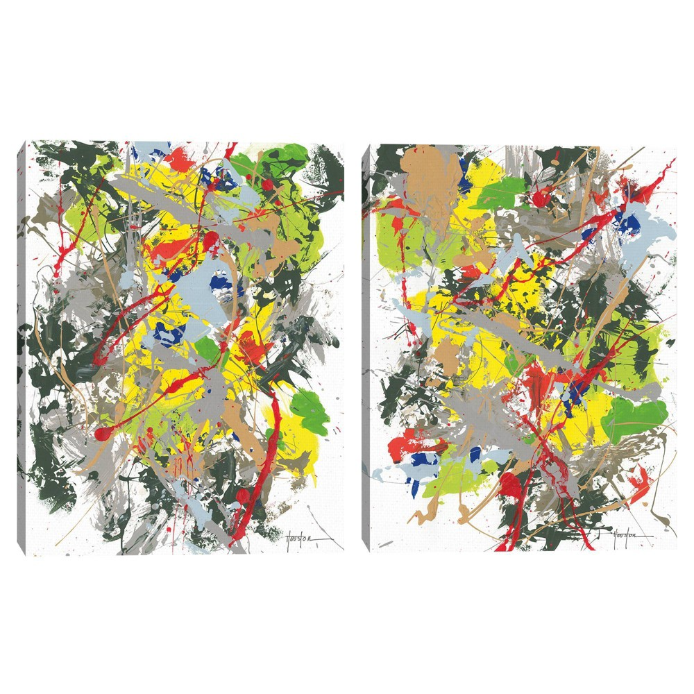 Set Of 2 18 34 X 24 34 Abstract 1 And 2 By Dan Houston Canvas Art Prints Masterpiece Art Gallery