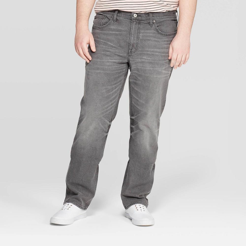 Men's Big & Tall 32 Regular Slim Straight Fit Jeans - Goodfellow & Co Gray 54x32