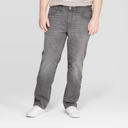 Men's Big & Tall Regular Slim Straight Fit Jeans - Goodfellow & Co™ Gray - image 1 of 3