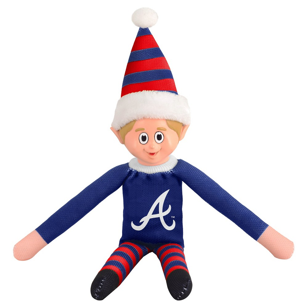 Forever Collectibles Atlanta Braves Elf Forever Collectibles - MLB Team Elf, Atlanta Braves - This Forever Collectibles Team Elf with provide hours of joy and holiday cheer for all. This officially licensed elf is sporting your favorite team's logo on his sweatshirt and a Santa hat for the season. Start a new tradition this year with your 2015 team elf! Age - 3 and up. Team elf is approximately 14 inches tall.