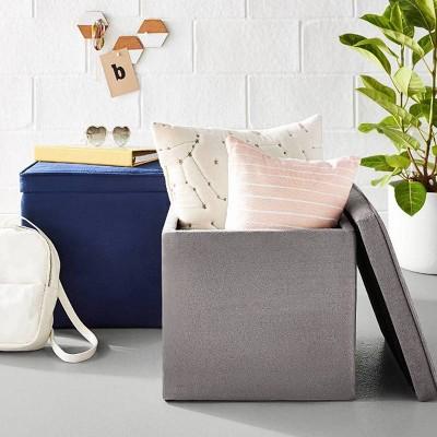 Fantastic Dorm Room Storage Ottoman Decor Collection Room Essentials Uwap Interior Chair Design Uwaporg