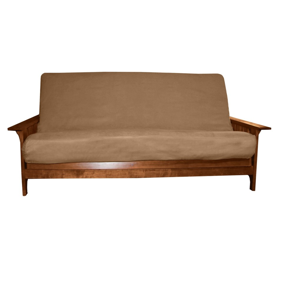 Image of Grade Futon Mattress Cover Microfiber Suede Fabric Pecan - Epic Furnishings