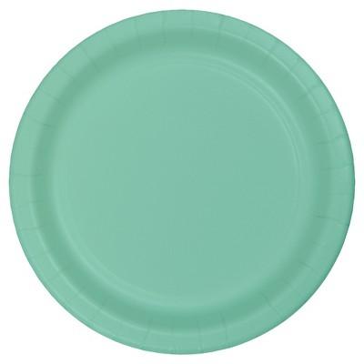 "Fresh Mint Green 7"" Dessert Plates - 24ct"