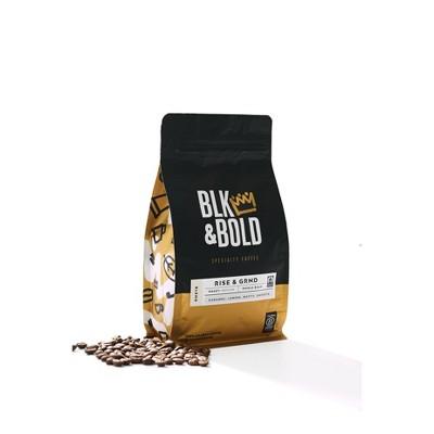 BLK & Bold Rise & Grind, Medium Roast Whole Bean - 12oz