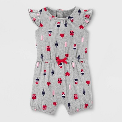 Baby Girls' Ice Cream Romper - Just One You® made by carter's Gray 3M