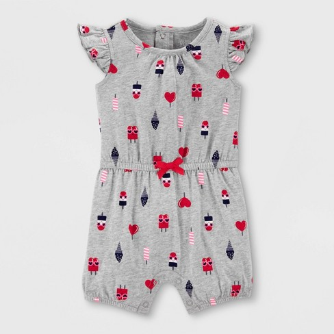 22d7d4408a3 Baby Girls  Ice Cream Romper - Just One You® Made By Carter s Gray ...