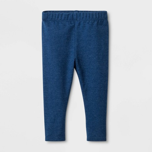 Baby Girls' Stretch Jersey Leggings - Cat & Jack™ Blue - image 1 of 1