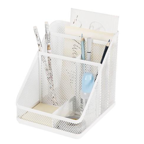 Mesh Medium Desktop Organizer White - Made By Design™ - image 1 of 4