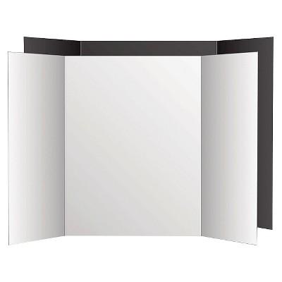 Eco Brites Too Cool Tri-Fold Poster Board - Black/White