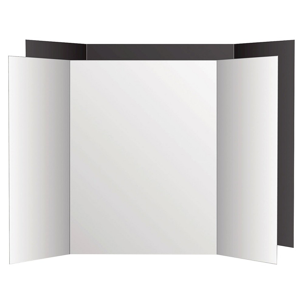 Image of Eco Brites Too Cool Tri-Fold Poster Board - Black/White, White Black