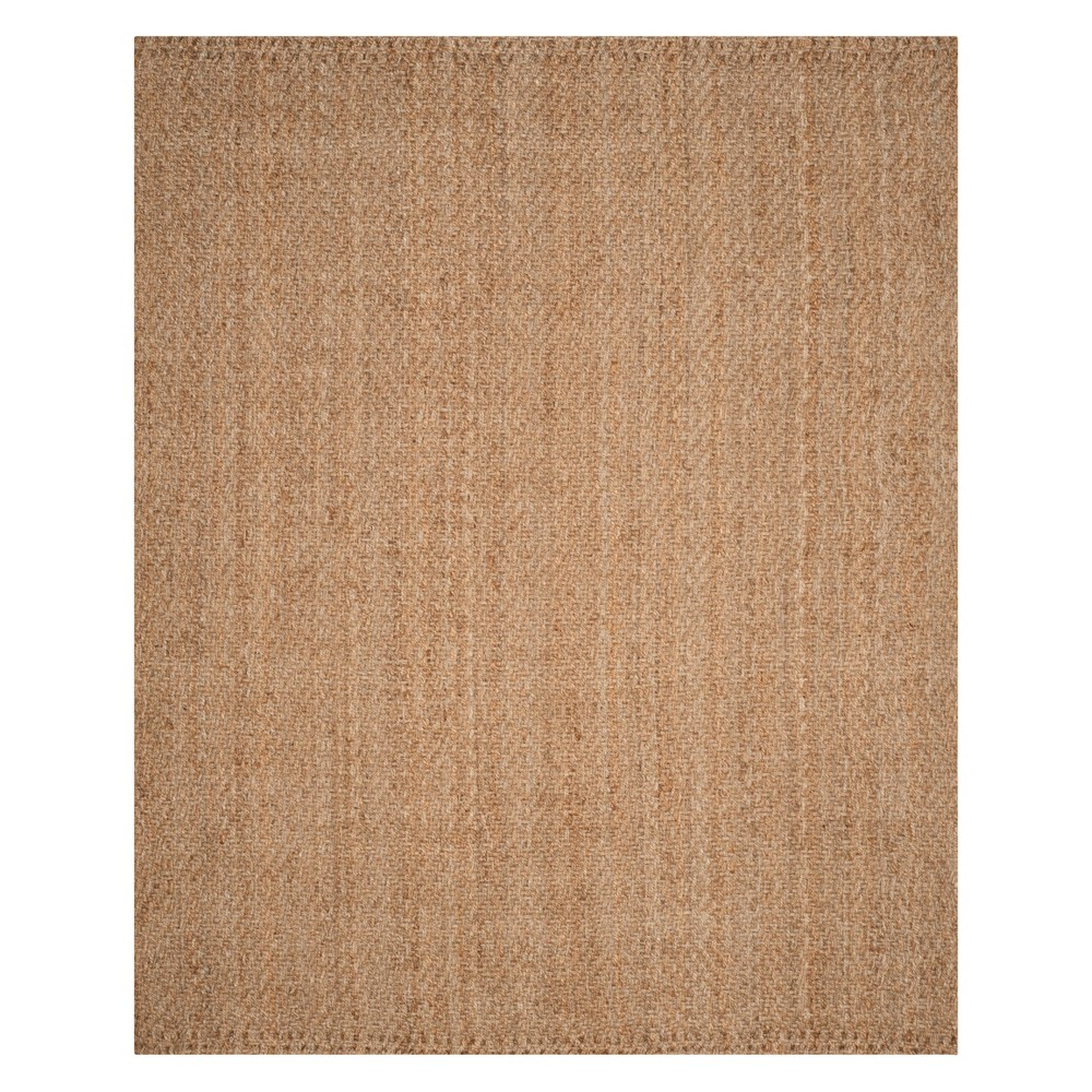 Geometric Woven Area Rug Natural