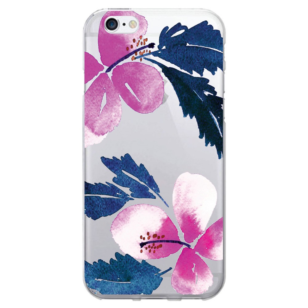 Apple iPhone 8/7/6s/6 Case Hibiscus Pink and Blue - Otm Essentials, Pink/Blue