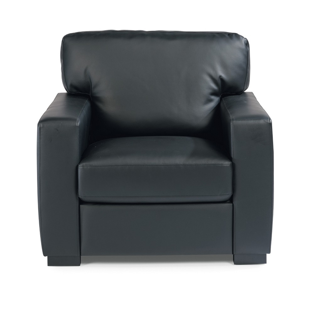 Alex Upholstered Contemporary Chair Black - Home Styles