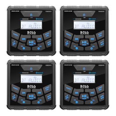 Boss Gauge Marine Bluetooth MP3 Radio Stereo Boat Audio Receiver Player (4 Pack)