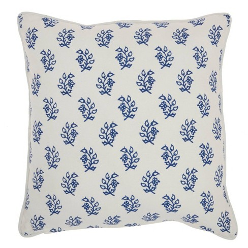 """18""""x18"""" Life Styles Printed Branches Throw Pillow Blue - Mina Victory - image 1 of 4"""
