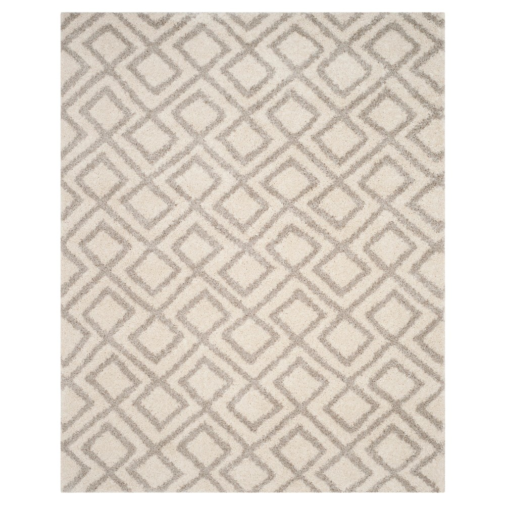 Ivory/Beige Abstract Loomed Area Rug - (8'x10') - Safavieh, White
