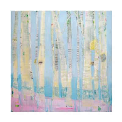 "24"" x 24"" Kellie Day 'Winter Woods' Unframed Wall Canvas - Trademark Fine Art"