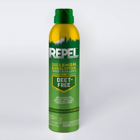 Repel Plant Based Lemon Eucalyptus Insect Repellent Aerosol 4 Oz