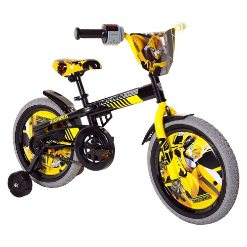 "Transformers Bumblebee 16"" Kids' Bike with Training Wheels - Yellow/Gray - image 1 of 1"