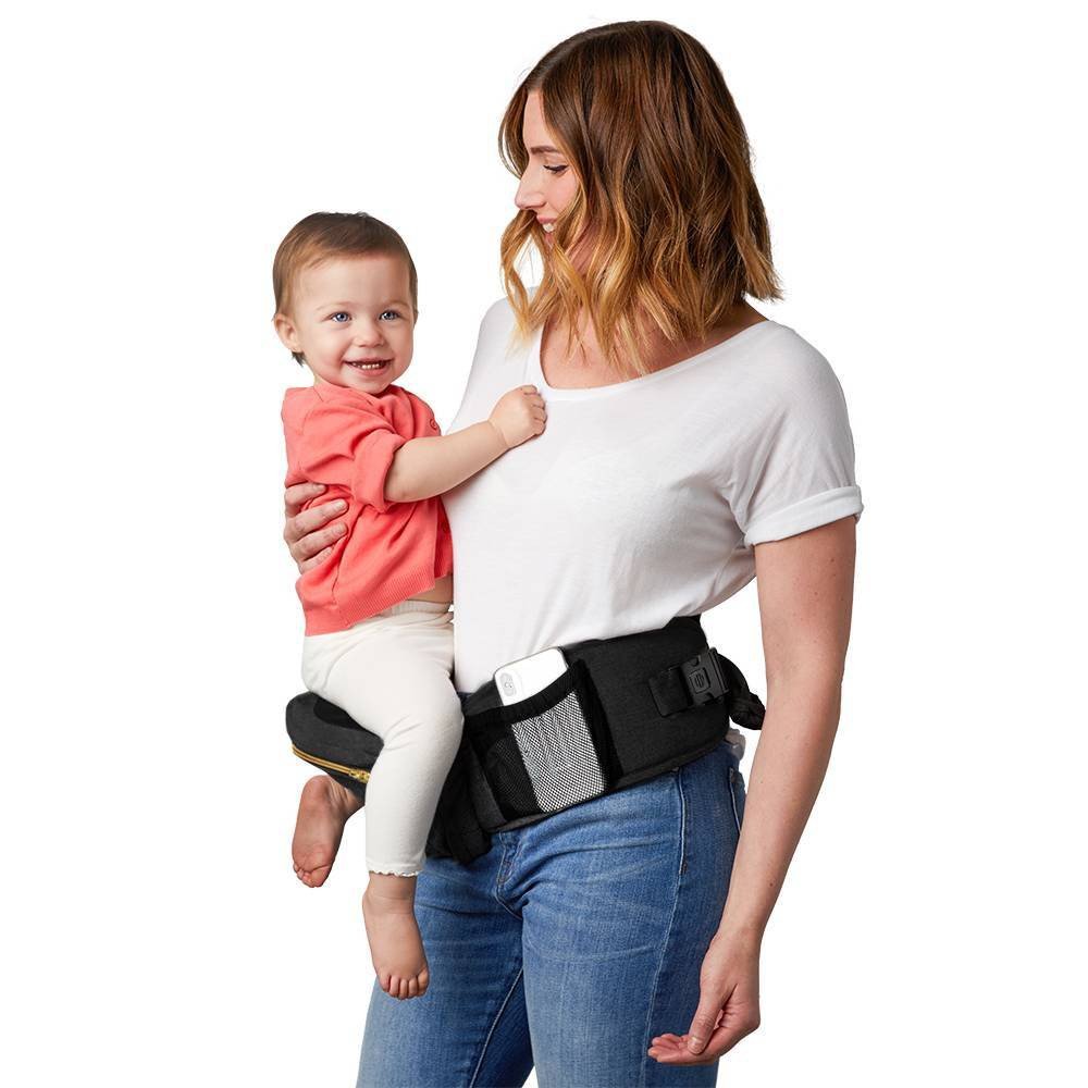 Image of TushBaby Baby Carrier - Black/Gold