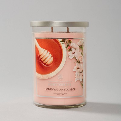 Glass Jar Honeywood Blossom - Home Scents by Chesapeake Bay Candle