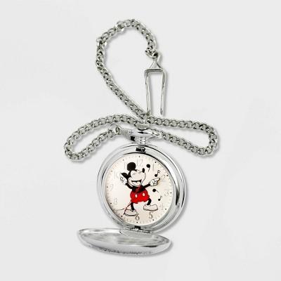 Men's Disney Mickey Mouse Pocket Watch - Silver