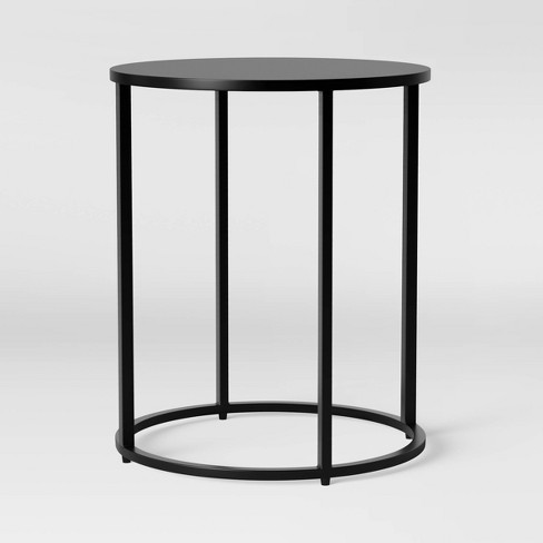 Glasgow Round Metal End Table Black Project 62